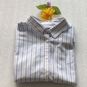 Tops - Banana Republic Fit White With Blue Stripe Shirt